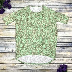 Lularoe Irma Green Floral Top